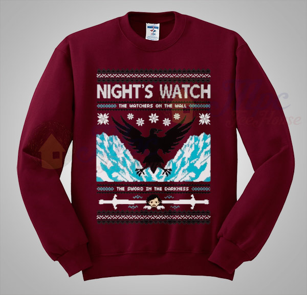 Game of thrones night watch christmas sweater mpcteehouse for Game of thrones christmas gifts 2016