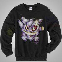 Gengar Pokemon Zombie Sweatshirt