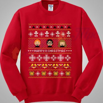 Harry Potter Says Happy Christmas Sweater - Mpcteehouse