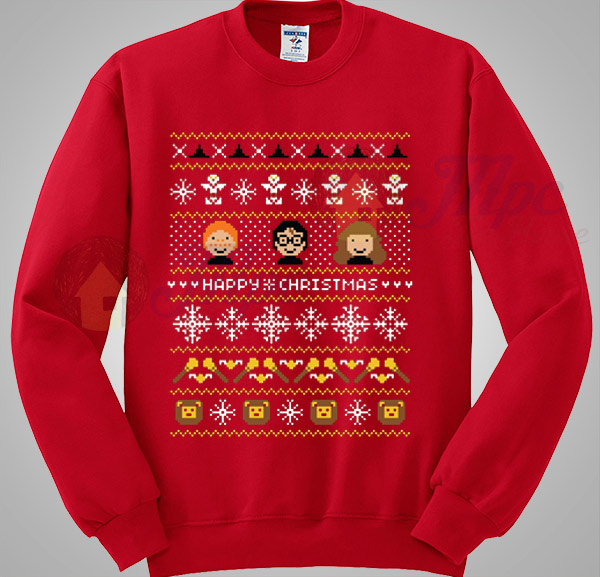 harry potter says happy christmas sweater