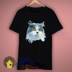 Hipster Cat Hay Girl Eye-Funny T shirt
