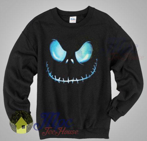 Jack Skellington Face Christmas Sweater