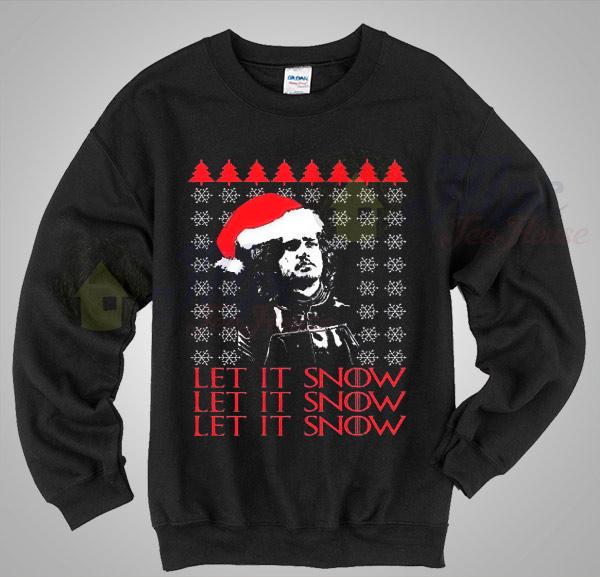 jon snow let it snow christmas sweater
