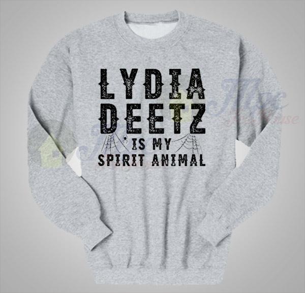 ac23f392d262 Lydia Deetz Is My Spirit Animal Crewneck Sweatshirt - Mpcteehouse