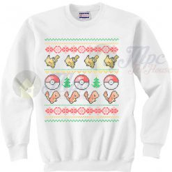 Pokemon Pokeball Pikachu Christmas Sweater