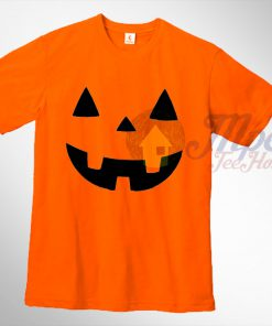 Pumpkin Face Halloween T Shirt