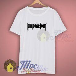 Purpose Tour Bieber 2016 Symbol White T Shirt