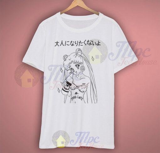 Sailor Moon Kawaii Anime Thug Life Grunge T Shirt