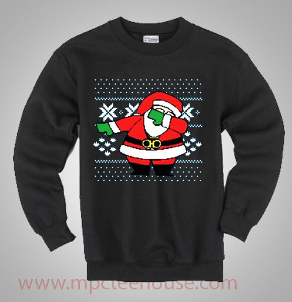 Santa Claus Dab on Em Christmas Ugly Sweater - Mpcteehouse
