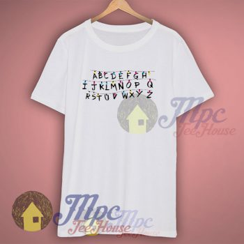 Stranger Things Abc Words T Shirt