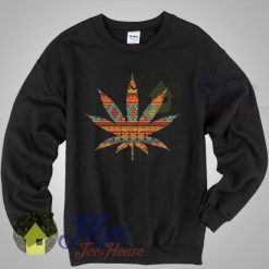 Sweat Weed Aztec Pattern Sweatshirt