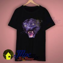 Wild Animal Black Phanter Face T Shirt