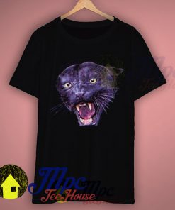 Wild Animal Black Phanter Face T Shirt