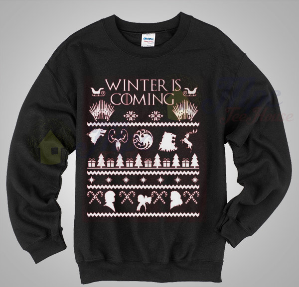 Winter is coming game of thrones christmas sweater for Game of thrones christmas gifts 2016