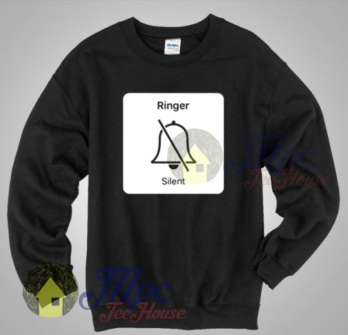 iPhone Ringer Silent Icon Sweatshirt