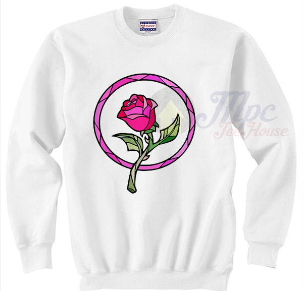 Beauty And The Beast Rose Christmas Sweater Mpcteehouse
