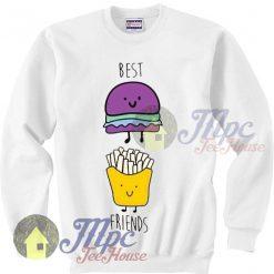 Best Friends Burger And Fries Sweatshirt