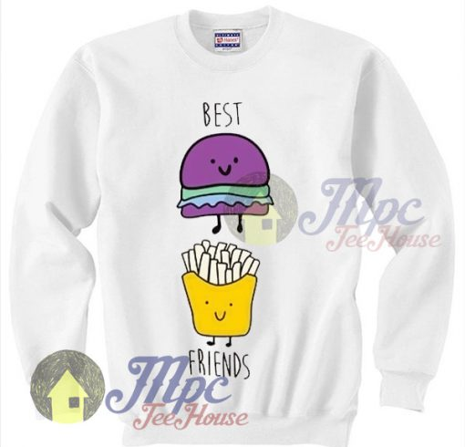 Best Friends Burger And Fries Sweatshirt