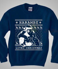 Harambe Loved Christmas Sweaters