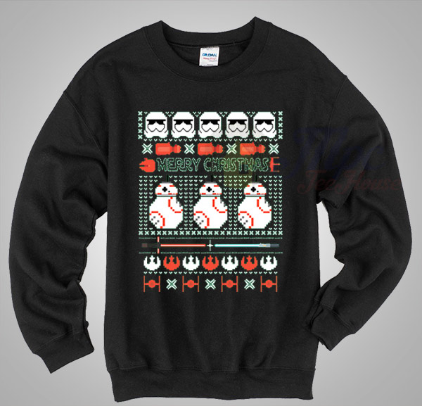 r2d2 star wars merry christmas sweater