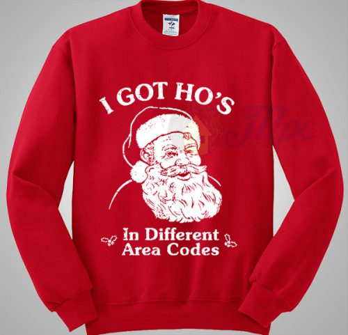Santa Claus Got Different Area Codes Christmas Sweater