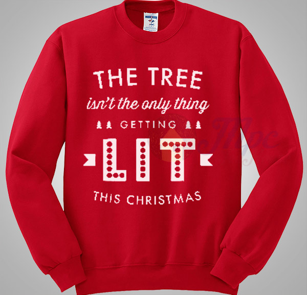 Lit Christmas sweatshirt