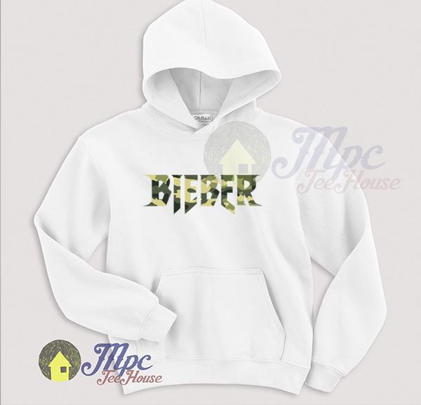 Bieber Symbol Across Camo Unisex Hoodie
