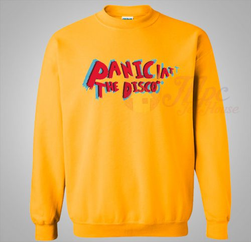 New Arrival Panic At The Disco Yellow Sweatshirt