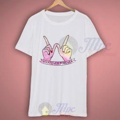 Whatever Forever Hand Symbol Tumblr T Shirt