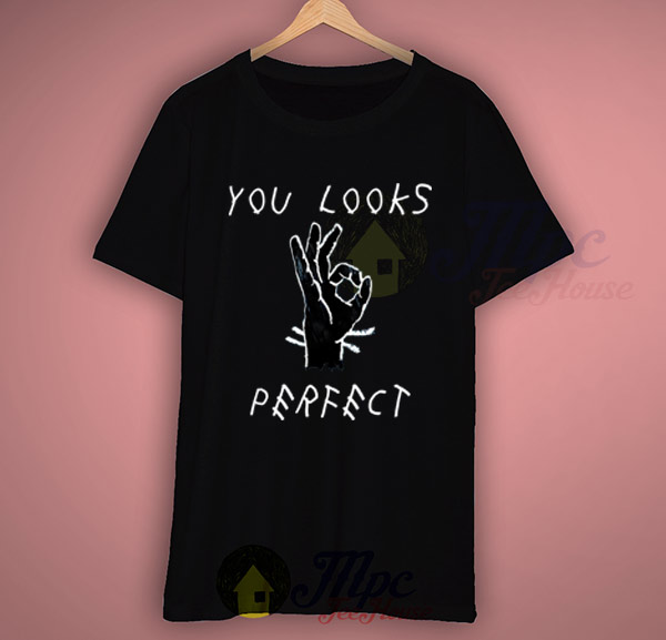 you looks perfect ed sheeran lyric t shirt mpcteehouse. Black Bedroom Furniture Sets. Home Design Ideas