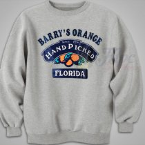 Barry's Orange Hand Picked Florida Vintage Sweatshirt