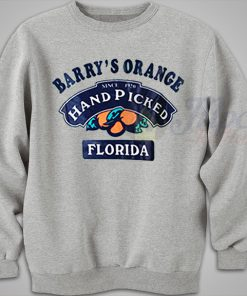 Barry's Orange Hand Picked Florida Vintage Sweatshirt