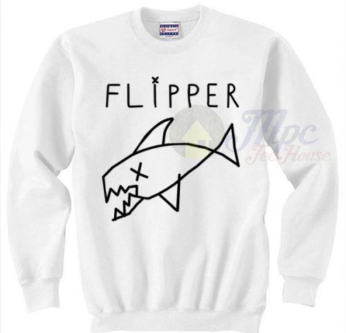 Flipper Kurt Cobain Nirvana Grunge Sweatshirt
