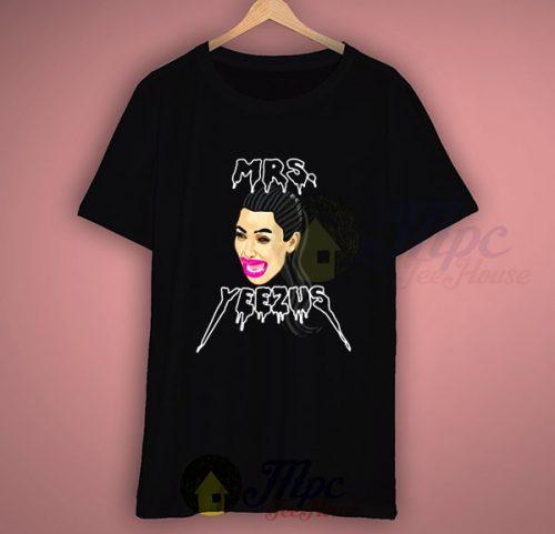 Mrs Yeezus Kim Kardashian Funny T Shirt