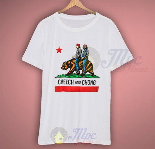 Cheech and Chong California Republic Flag T Shirt