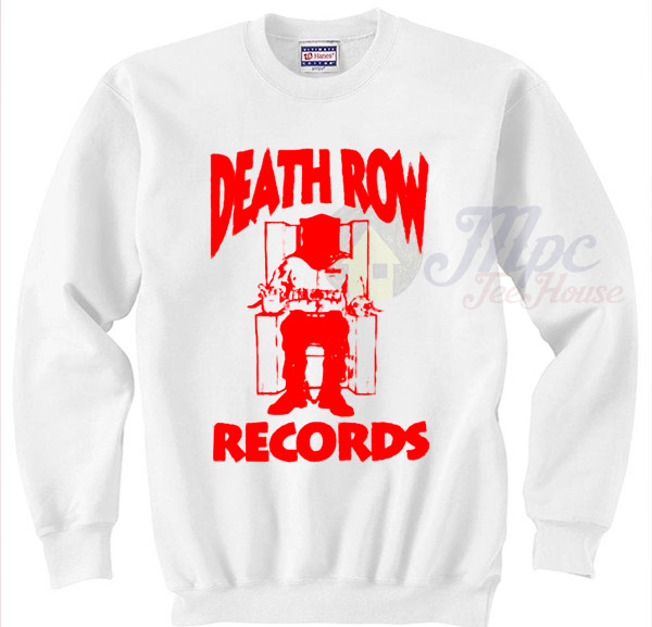 Death Row Vintage Hip Hop Records Sweater