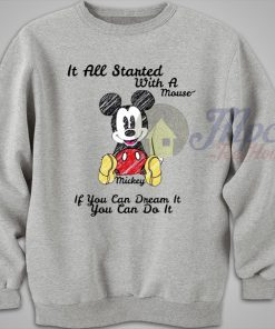 Disney Mickey Mouse Quote Sweater
