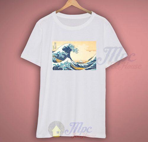 Great Wave off Kanagawa Vintage Art T Shirt