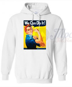We Can Do It Wartime Propaganda Unisex Hoodie