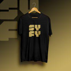 SYFY Logo Black Gold