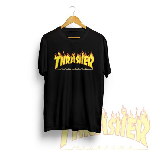 Thrasher Skateboarding Magazine Logo Fire