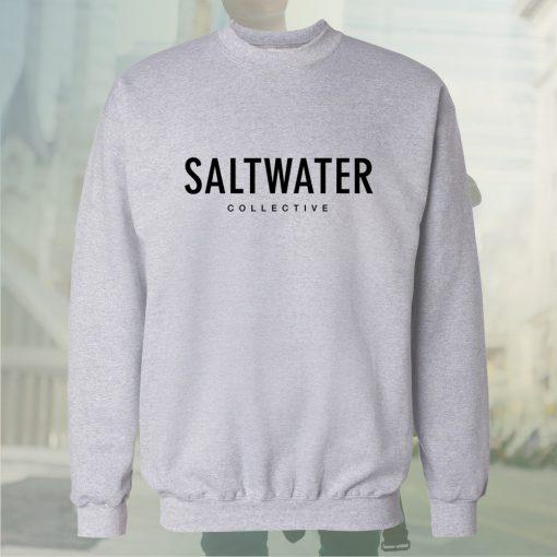 saltwater collective white sweatshirt