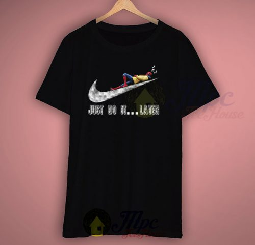 Cheap Funny Spiderman Just Do It Later T Shirt