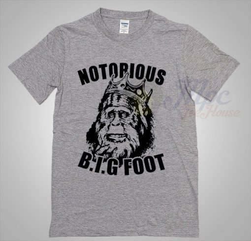 Cheap Notorious Big Foot 80s Tee Shirt