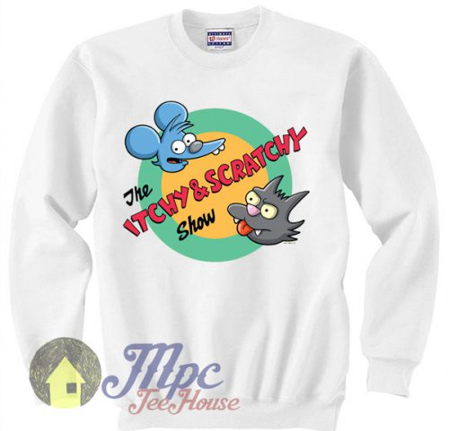Cheap The Itchy & Scratchy Show Crewneck Sweatshirt