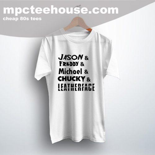 Jason Freddy Michael Chucky 80s Movie T Shirt