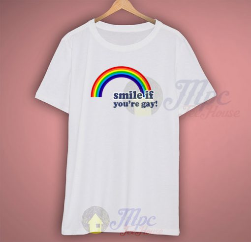 Smile If You're Gay Vintage 80s T shirt