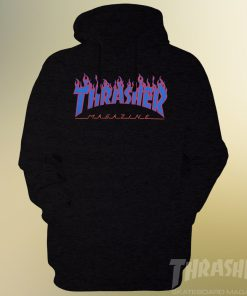 Thrasher Flames Blue Logo