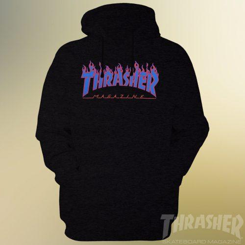 Thrasher Flames Blue Logo