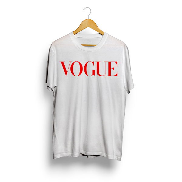 Vogue Logo T Shirt | Cheap 80s Tees - Mpcteehouse